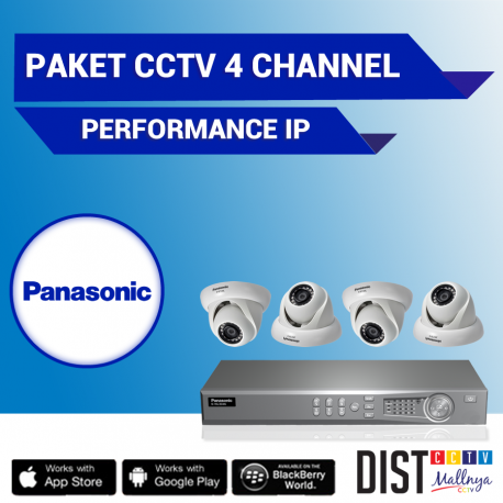Paket CCTV Panasonic 4 Channel Performance IP