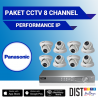 Paket CCTV Panasonic 8 Channel Performance IP