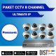 Paket CCTV Panasonic 8 Channel Ultimate IP