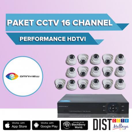 Paket CCTV Omniview 16 Channel Perfomance HDTVI