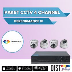 Paket CCTV Omniview 4 Channel Performance IP