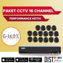 Paket CCTV G-Lenz 16 Channel Performance HDTVI