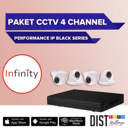 Paket CCTV Infinity 4 Channel Performance IP Black Series