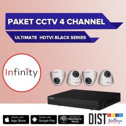 Paket CCTV Infinity 4 Channel Ultimate Black Series