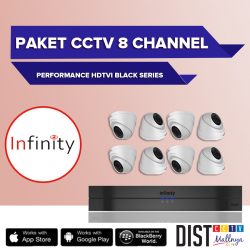 Paket CCTV Infinity 8 Channel Performance Black Series