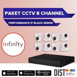 Paket CCTV Infinity 8 Channel Performance IP Black Series