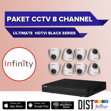 Paket CCTV Infinity 8 Channel Ultimate HDTVI Black Series