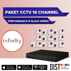 Paket CCTV Infinity 16 Channel Performance IP Black Series