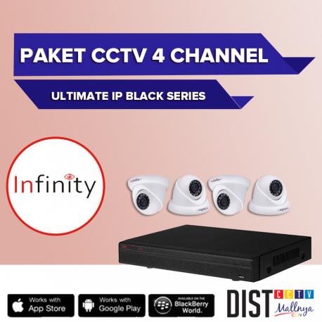 Paket CCTV Infinity 4 Channel Ultimate IP Black Series