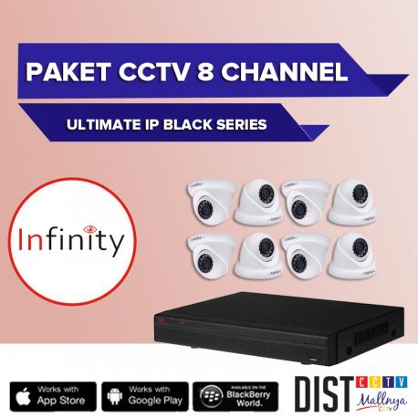 Paket CCTV Infinity 8 Channel Ultimate IP Black Series