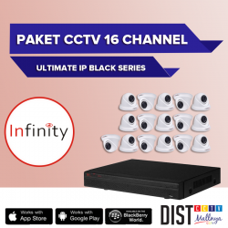 Paket CCTV Infinity 16 Channel Ultimate IP Black Series