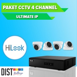 Paket CCTV HiLook 4 Channel Ultimate IP