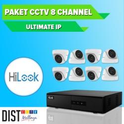 Paket CCTV HiLook 8 Channel Ultimate IP