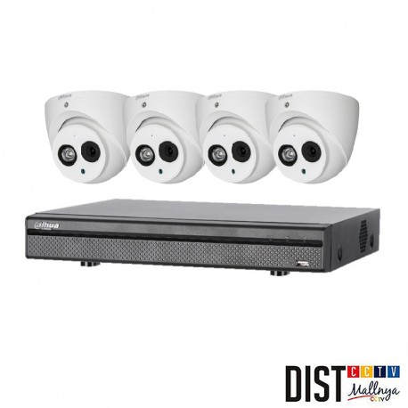 Paket CCTV Dahua 4 Channel HD 4MP